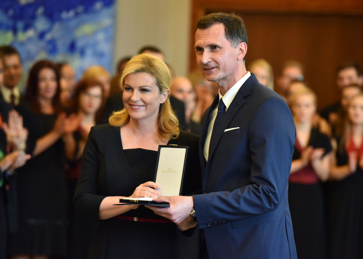 Dragan Primorac Has Been Awarded With the State Decoration of the Order of Ante Starcevic