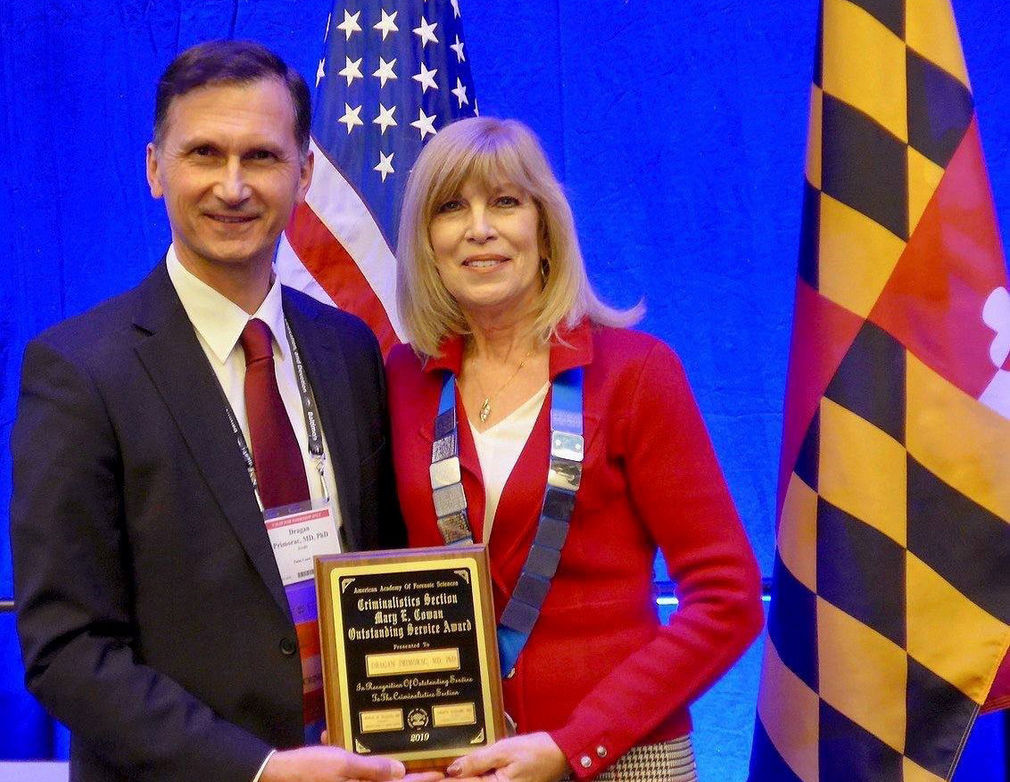 American academy presents one of most significant awards to prof. Dragan Primorac, MD, PhD